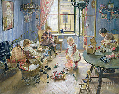 Pram Painting - The Nursery by Fritz von Uhde