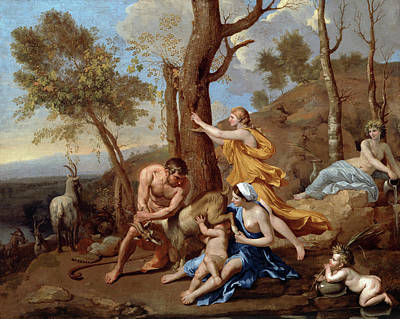 Thunderbolt Painting - The Nurture Of Jupiter by Nicolas Poussin