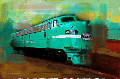 Flash II  The Ny Central 4083  Train  Print by Iconic Images Art Gallery David Pucciarelli