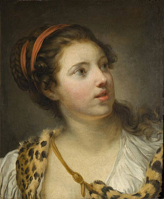 Jean-baptiste Greuze Painting - The Nymph Callisto by Jean-Baptiste Greuze