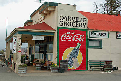Coca Cola Sign Photograph - The Oakville Grocery by Suzanne Gaff