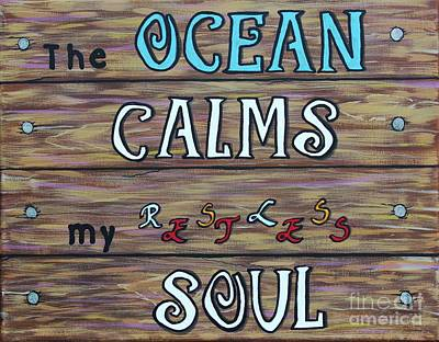 Painting - The Ocean Calms My Restless Soul by Barbara Griffin