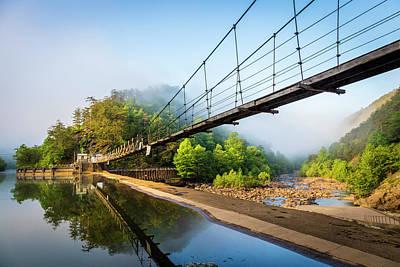 The Ocoee River Dam Print by Debra and Dave Vanderlaan
