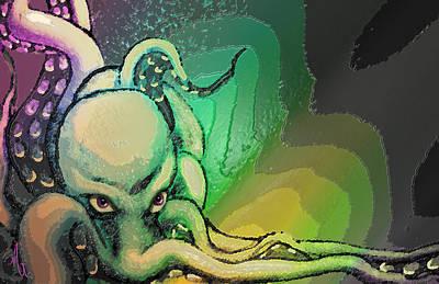 The Octopus Queen Original by Michelle Rene Goodhew