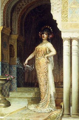 The Odalisque Print by Edouard Frederic Wilhelm Richter