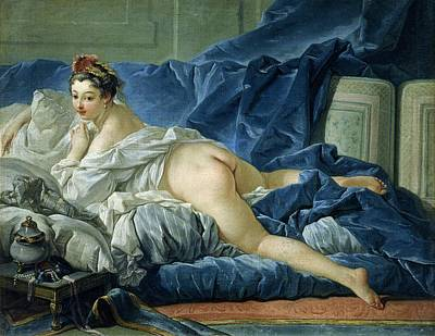 Prostitutes Painting - The Odalisque by Francois Boucher