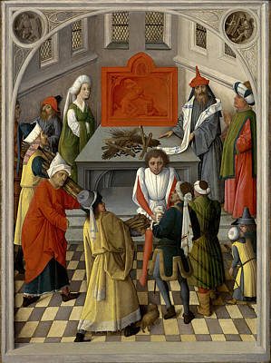 Manna Painting - The Offering Of The Jews by Master of the Gathering of the Manna