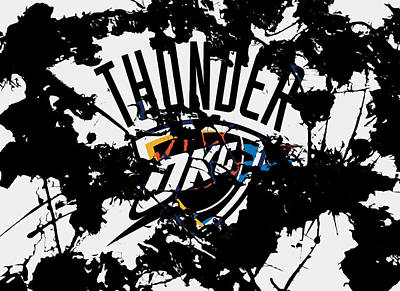 Oklahoma City Thunder Mixed Media - The Oklahoma City Thunder by Brian Reaves
