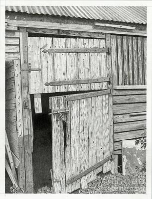 The Old Barn Door Print by Denny Adams