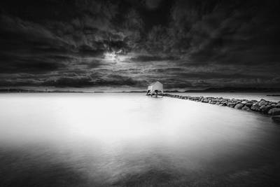 Harald Photograph - The Old Boat Shed by Erik Brede