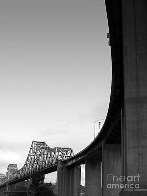 Bayarea Photograph - The Old Carquinez Bridge . Black And White . 7d8832 by Wingsdomain Art and Photography