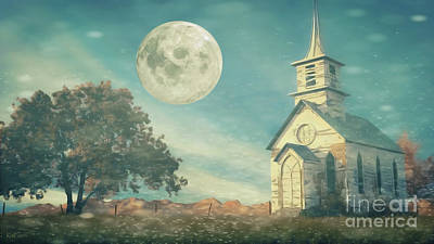The Old Church House Print by Kathy Franklin