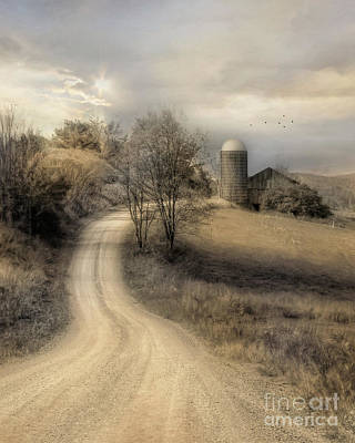 Country Dirt Roads Digital Art - The Old Farm by Lori Deiter