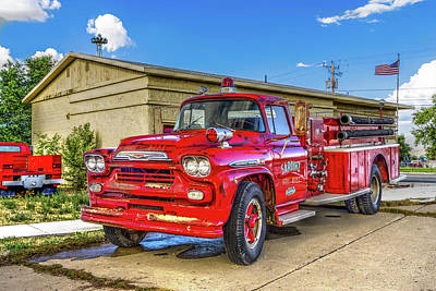 Old Firetrucks Photograph - The Old Firetruck  by TL Mair