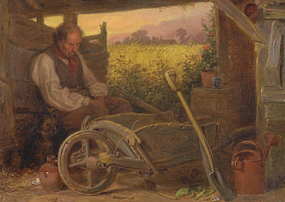 The Old Gardener Print by Briton Riviere