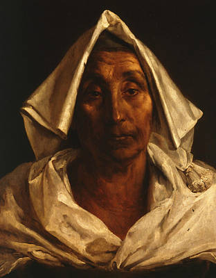 The Old Italian Woman Print by Theodore Gericault