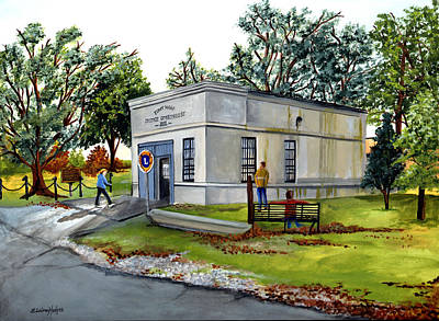 Jail Painting - The Old Jail by Elaine Hodges