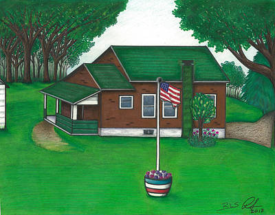 Schoolhouse Mixed Media - The Old Knob Schoolhouse by Robert Slee