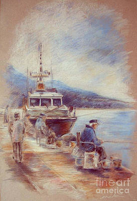 Altea Painting - The Old Man And The Sea 01 by Miki De Goodaboom