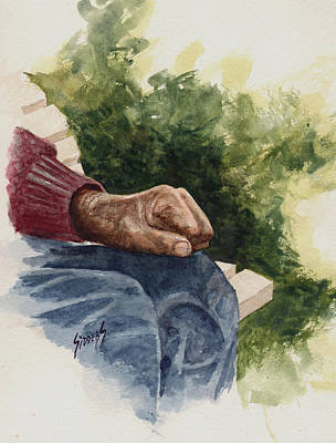 Painting - The Old Man's Hand by Sam Sidders