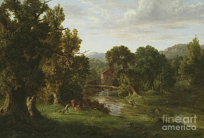 The Old Mill Print by George Inness