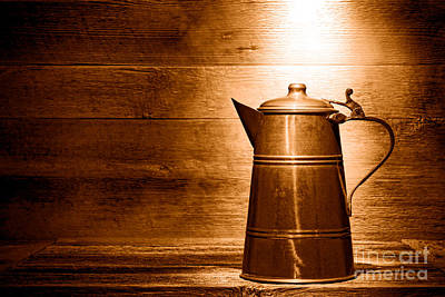 The Old Pitcher - Sepia Print by Olivier Le Queinec