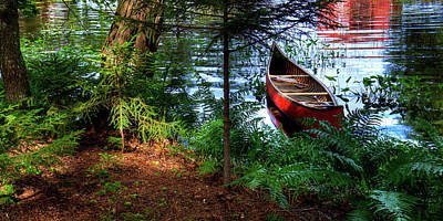 The Old Red Canoe Print by David Patterson