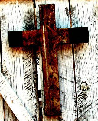 Folk Art Photograph - The Old Rusted Cross by Wayne Potrafka