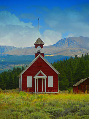 Old School Houses Digital Art - The Old Schoolhouse by Bobbie Barth