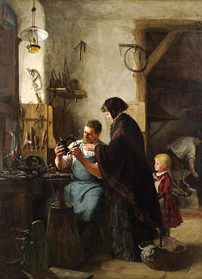 Painting - The Old Sewing Machine by Robert Koehler