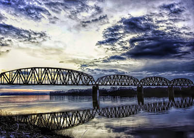 Kentucky Photograph - The Old Train Bridge by Randall Wilkerson