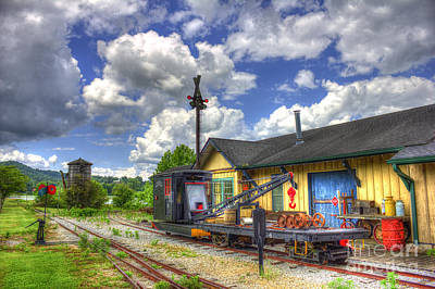 Greensboro Photograph - The Old Train Station And Water Tower by Reid Callaway