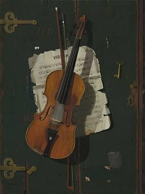 The Old Violin Print by John Frederick Peto