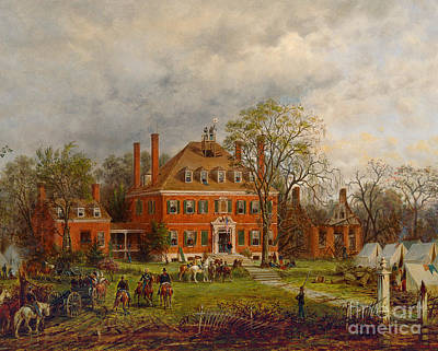 Slaves Painting - The Old Westover House by Edward Lamson Henry