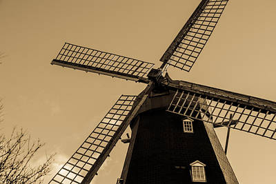 Malmo Digital Art - The Old Windmill by Toppart Sweden