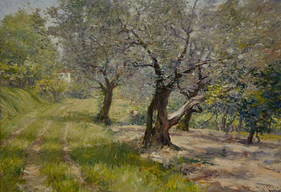 The Olive Grove Print by William Merritt Chase