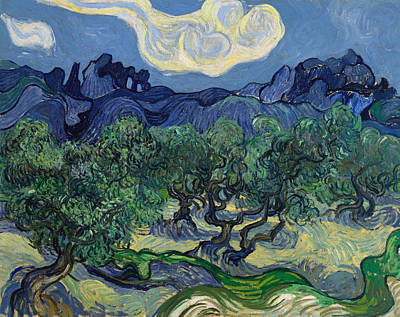 Olive Tree Painting - The Olive Trees by Vincent van Gogh
