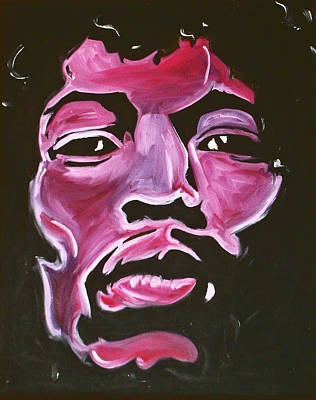 Painting - The One And Only Hendrix by Joseph Palotas