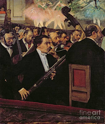Musical Painting - The Opera Orchestra by Edgar Degas