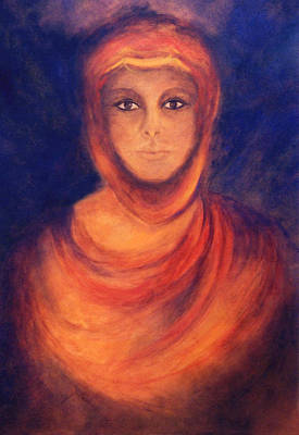 Spiritual Portrait Of Woman Painting - The Oracle by Marina Petro