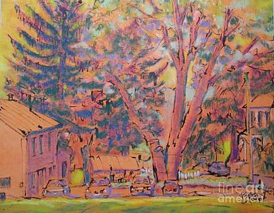 Grandparent Mixed Media - The Orange Tree by Larry Lerew