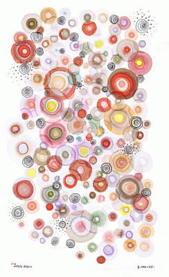 The Orbits Of Joy Print by Regina Valluzzi