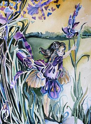The Orchid Fairy Original by Mindy Newman
