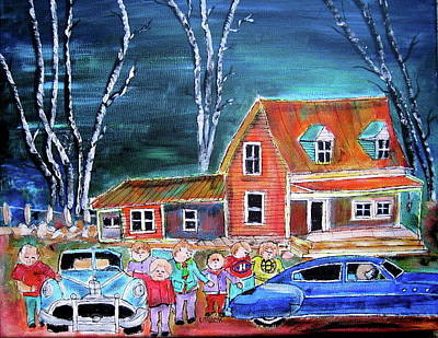 Litvack Naive Painting - The Original 6 by Michael Litvack