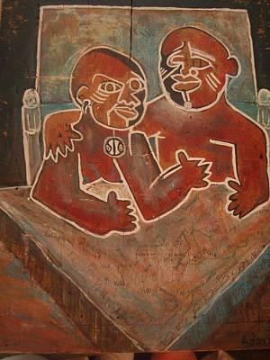 Weusi Art Mixed Media - The Original Ancestors by Robert Daniels
