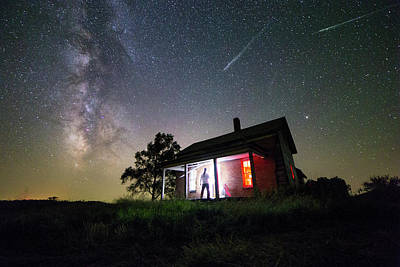 Fireball Photograph - The Outsider by Aaron J Groen