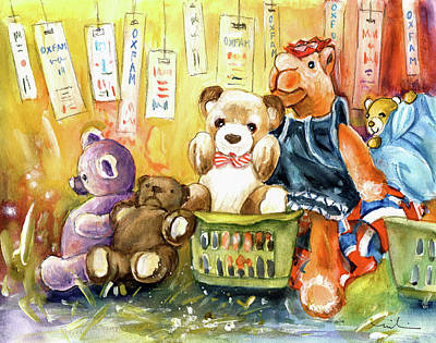 Toy Shop Drawing - The Oxfam Camel And Teddy Bears by Miki De Goodaboom