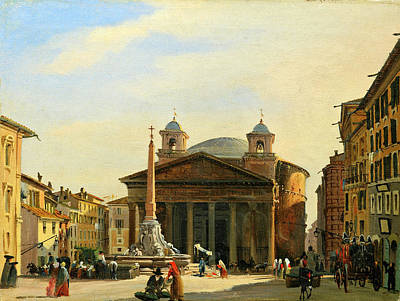 Ippolito Caffi Painting - The Pantheon. Rome by Ippolito Caffi