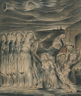 Wise Virgin Painting - The Parable Of The Wise And Foolish Virgins by William Blake