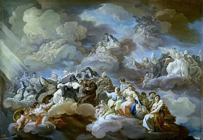 Corrado Giaquinto Painting - The Paradise by Corrado Giaquinto